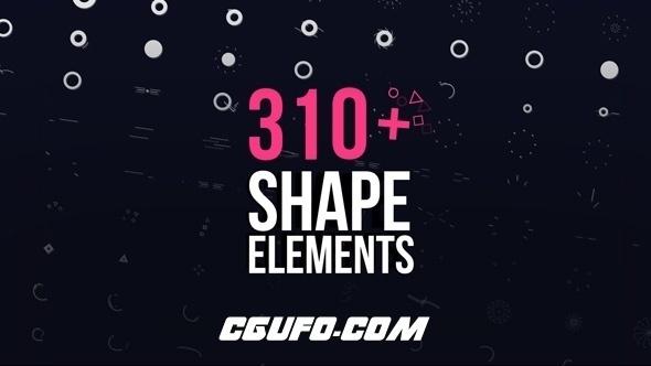 7057-310组文字MG动画特效AE模版,Motion Elements Pack