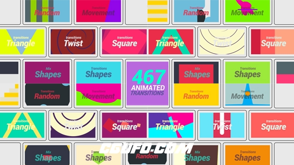 7059-467组转场过渡特效动画AE模版,467 Animated Transition