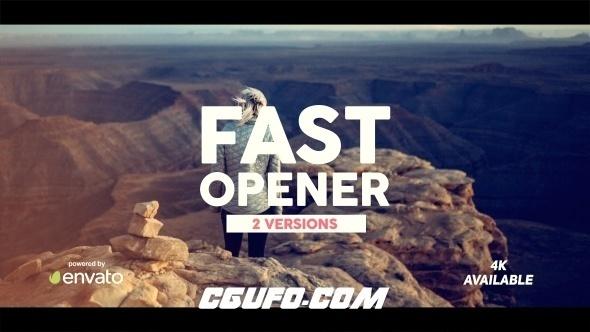 7064快速开场动画AE模版,Fast Opener