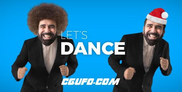 7076-16种真实人物制作卡通跳舞为生日婚礼周年纪念日动画AE模版,Let's Dance