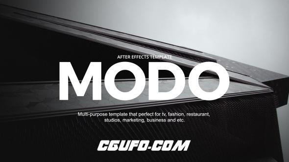 7080时尚类电视栏目包装动画AE模版,Modo – Fashion Broadcast