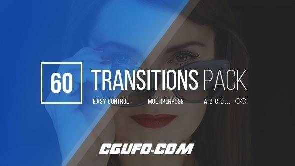 7092简洁转场过渡特效动画AE模版,Transitions