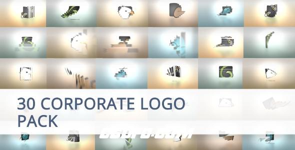 7108公司企业logo演绎动画AE模版,Sliced Color Opener