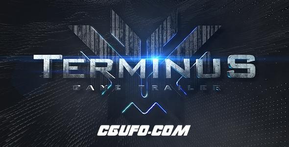 7115游戏预告文字标题特效动画AE模版,Terminus Game Trailer