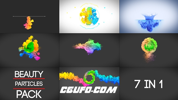 7123漂亮粒子特效logo演绎动画AE模版,Beauty Particles Logo Pack