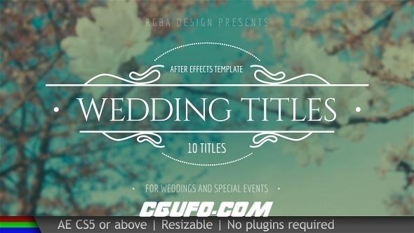 7124婚礼文字标题动画AE模版,Wedding Titles