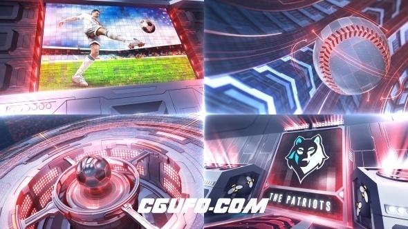 7125体育类电视栏目包装动画AE模版,Ultimate Sports – Broadcast Package