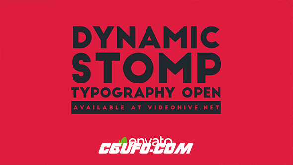 7127动态图片文字特效动画AE模版,Dynamic Stomp Typography Opener