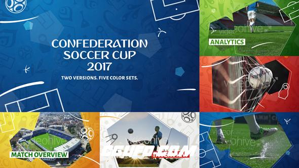 7139足球体育栏目包装片头动画AE模版,Confederation Football (Soccer) Cup Opener