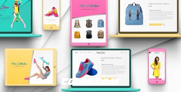 7143网购商品电脑手机宣传片动画AE模版,Online Shop Promo