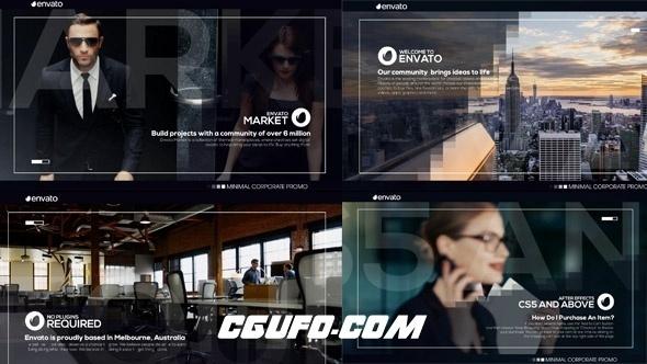 7146公司企业文化人物图文展示动画AE模版,Corporate Slideshow