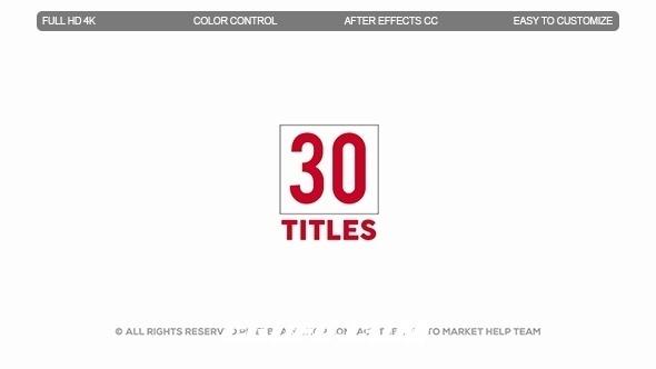 7148现代文字标题动画AE模版,Modern Titles II
