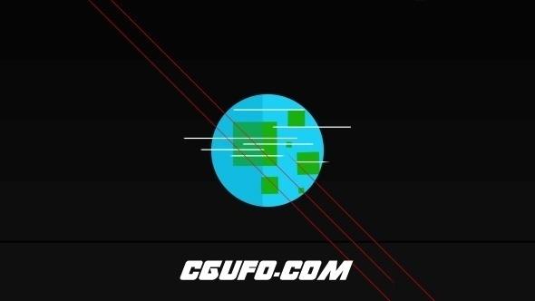7160创意logo演绎动画AE模版,Astronaut