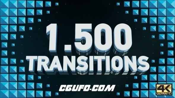 7164-1500组转场过渡特效动画AE模版,Transitions