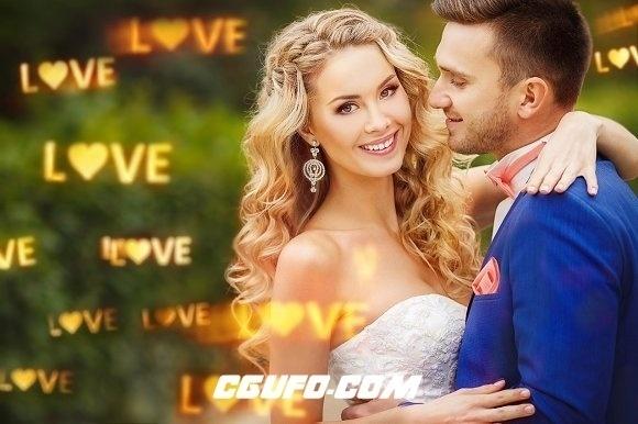 视频素材:40个浪漫唯美爱恋光斑炫光叠加特效视频动画婚礼婚庆高清视频素材