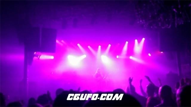 2996-室内演唱会灯光四射乐队歌手观众气氛活跃音乐现场表演高清实拍视频素材