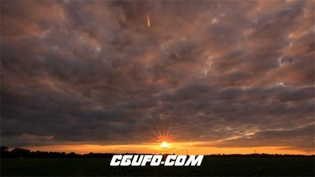 2998-夕阳西下时间流逝日落晚霞云层变化自然风光延时记录高清实拍视频素材