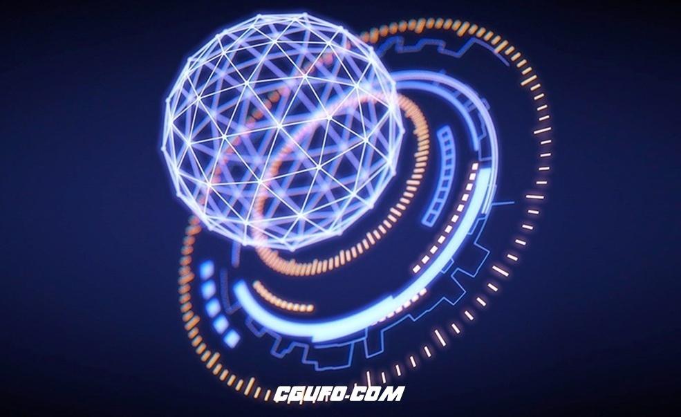 C4D制作HUD科技感元素 Designing and Animating Futuristic HUD Elements Tutorial