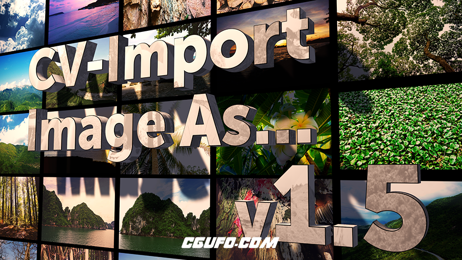 C4D导入图片制作矩阵插件 Cineversity CV-Import Image As 1.5 使用教程