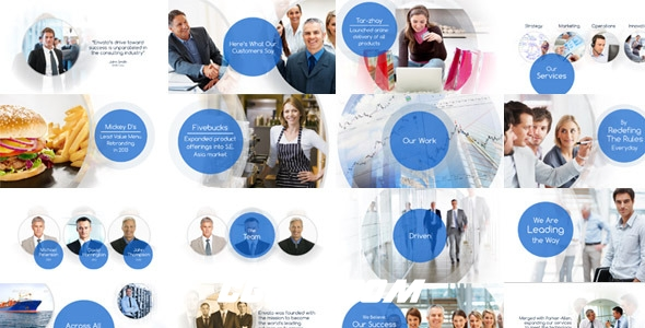 2543简洁企业公司宣传片包装动画AE模版,Clean Corporate