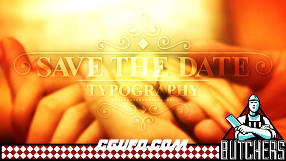 2573婚礼爱情视频包装动画AE模版,Save The Date Typography