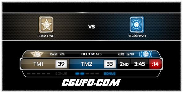 2591体育篮球类字幕条动画AE模版,On Air Basketball Package