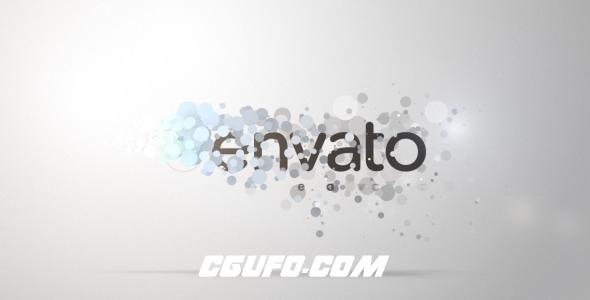 2642粒子特效logo演绎动画AE模版,Smooth Particle Logo