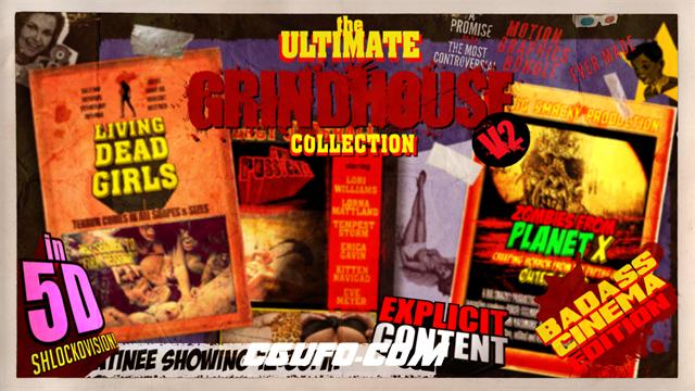 2671文字特效标题动画AE模版,The Ultimate Grindhouse Collection V2