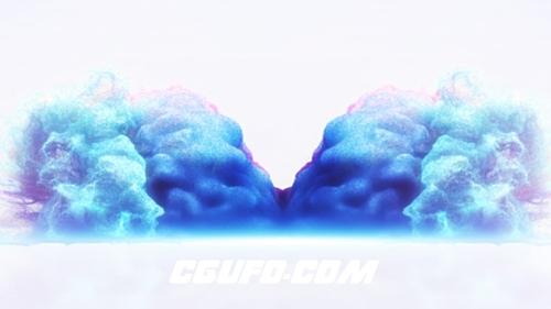 2675粒子特效logo演绎动画AE模版,Particle Collision Logo Reveal