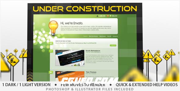 2684马路施工宣传片包装AE模版,Under Construction