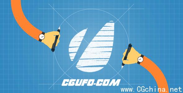 2696手绘logo演绎动画AE模版,Hand drawn logo reveal
