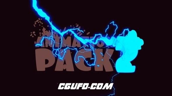 2700创意MG动画卡通效果特效AE模版,Animation Pack 2