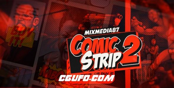 7234卡通连环画MG动画特效AE模版,Comic Strip 2