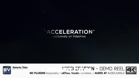 7269竞技风格宣传片包装动画AE模版,Acceleration // Demo Reel