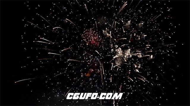 3001-璀璨烟花绽放点亮天空大型烟花晚会表演高清视频延时视频