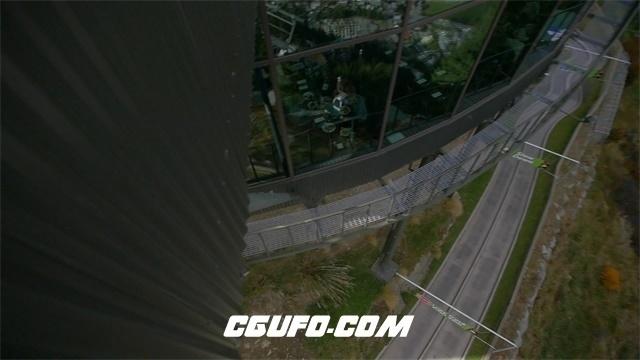 3009-依山傍水风景建筑群山大海天空视觉转换自然景色风光高清视频拍摄