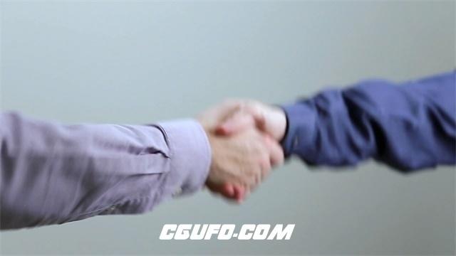 3079-商务成功人士见面握手礼仪合作共赢特写镜头高清实拍视频素材
