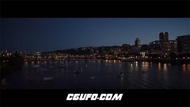 3236唯美城市夜景霓虹灯烟花高清实拍视频素材
