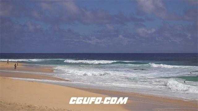 3337-4K海浪沙滩人物生活高清视频素材