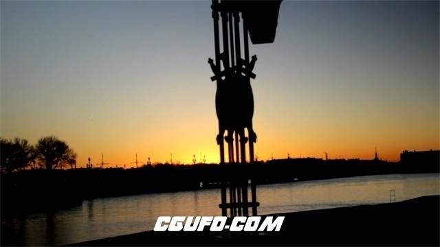 3349日落下的圣彼得堡高清实拍视频素材