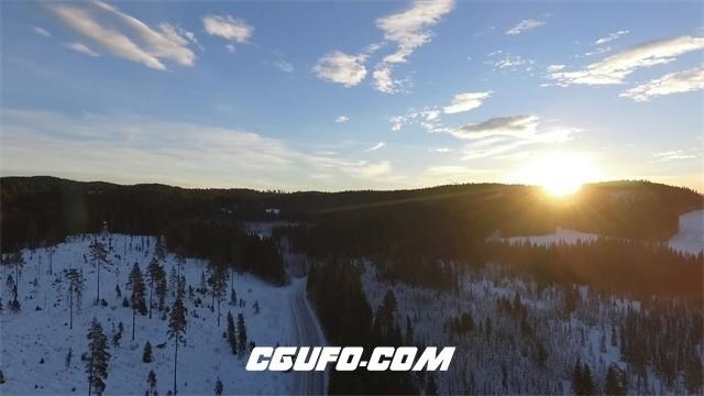 3350森林日出高清实拍视频素材