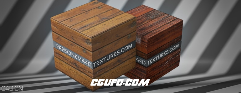 C4D木纹贴图预设(含51个木纹贴图)texture pack infinite – wood.lib4d