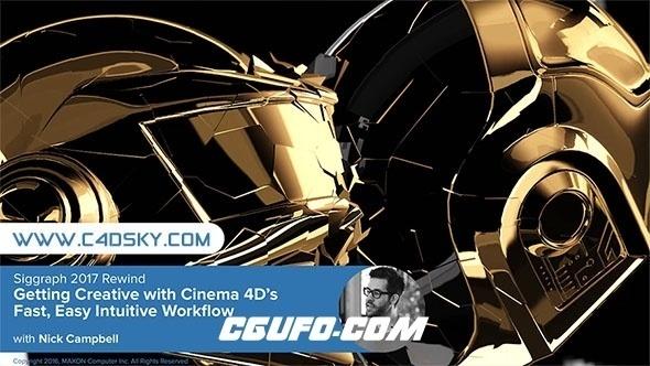 第三批Cinema 4d R19大神运动图形系列视频教程合集Siggraph 2017 Rewind 精彩展会回顾