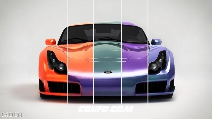 C4D VRAY汽车材质预设合集 New in VRayforC4D 1.8 – VRay Car Paint Mtl