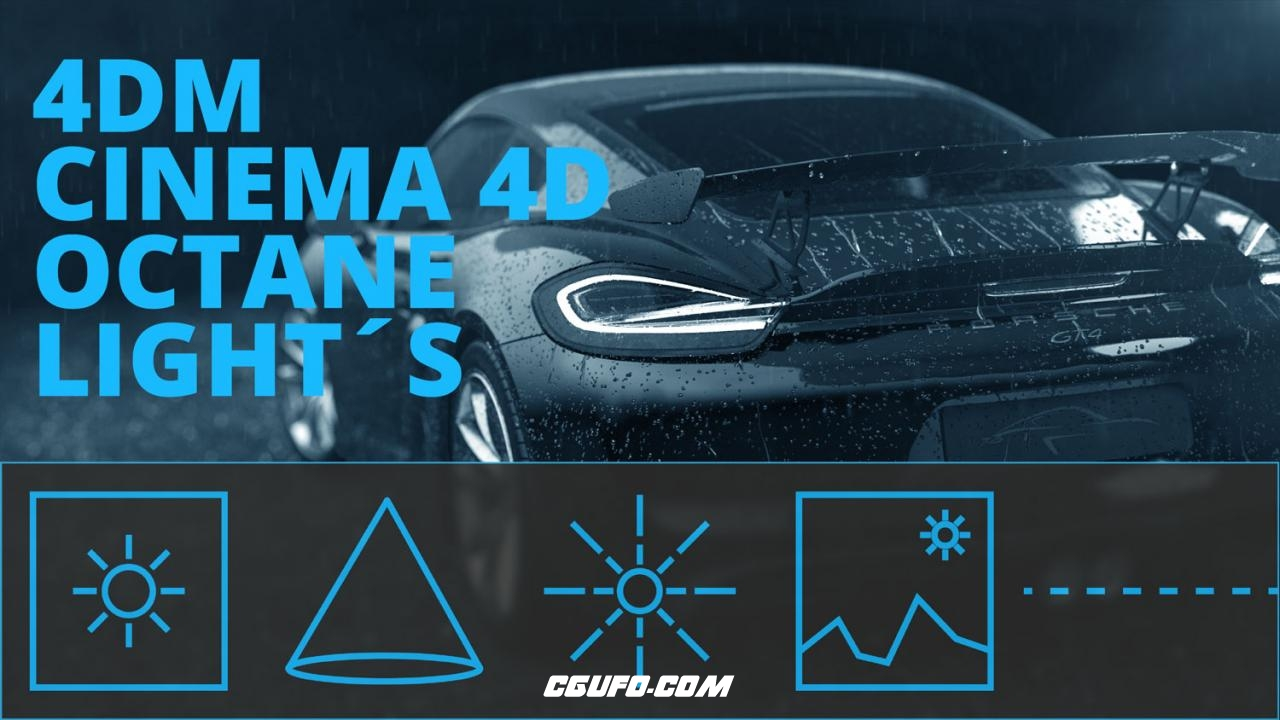 C4D OCTANE渲染器灯光预设 CINEMA 4D OCTANE LIGHT Simple Octane Lightkit