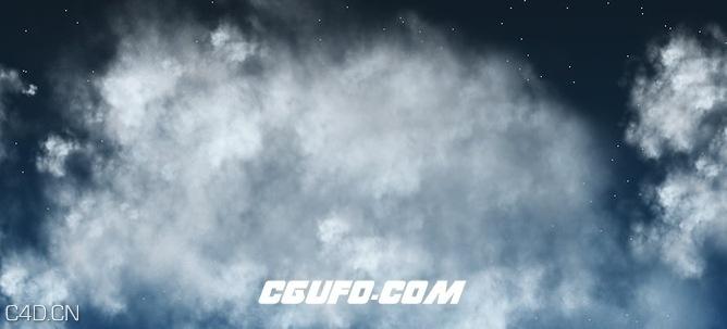 C4D云层预设工程  Cloud maker