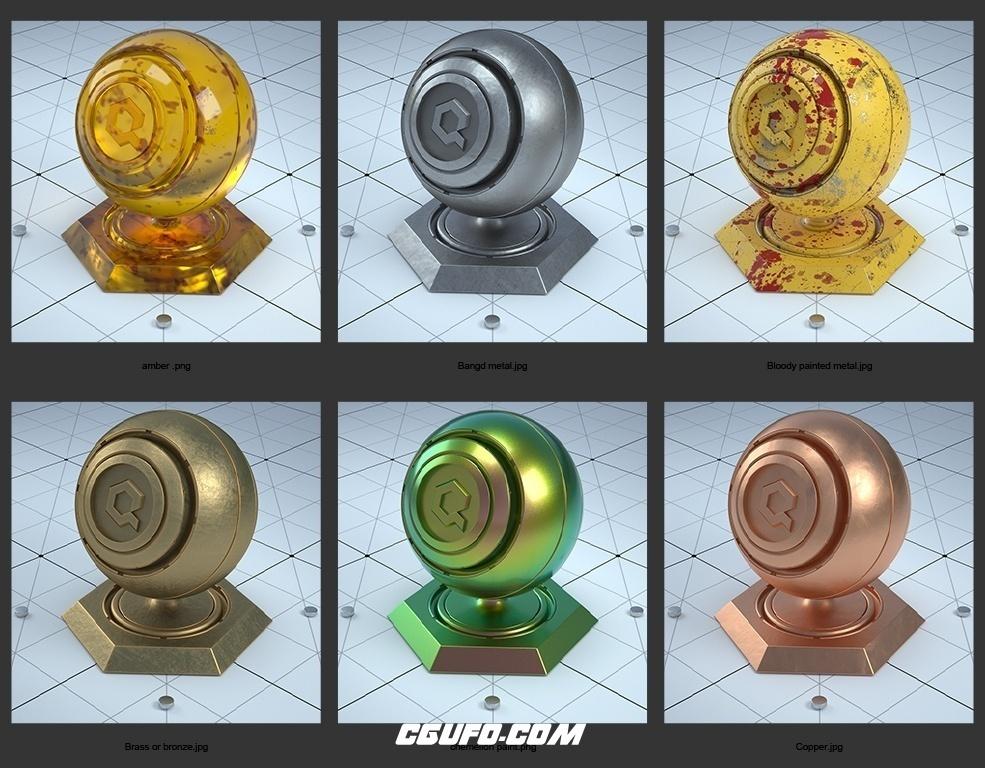 微信余额生成器_22个C4D Octane渲染器材质合集 Octane Materials-CGUFO