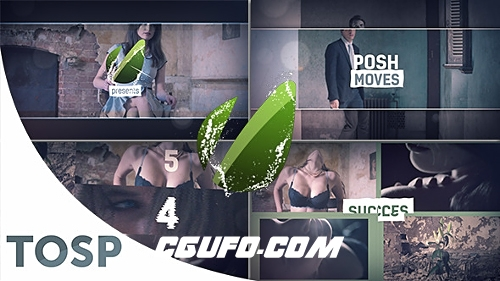 2701创意图片视频包装动画AE模版,Posh Moves Presentation