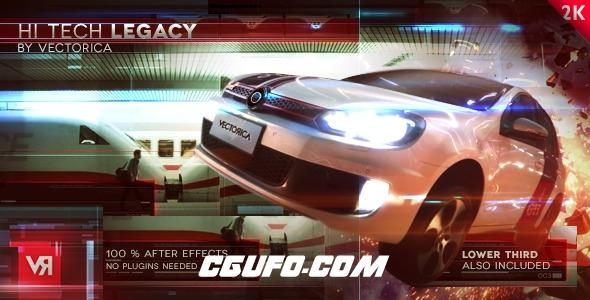 2716高科技视频包装特效动画AE模版,High Tech Legacy