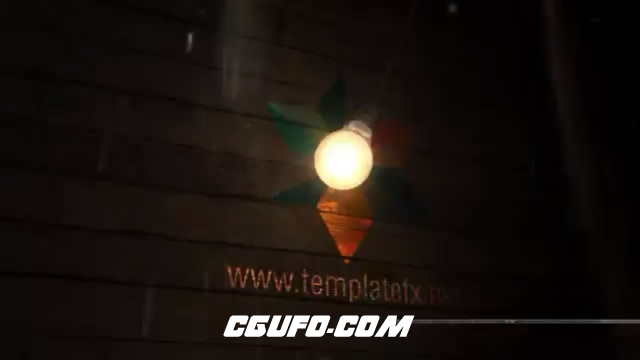2756灯泡照亮logo文字特效动画AE模版,Bulb ActionZ